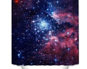 Galaxy Stars Shower Curtain