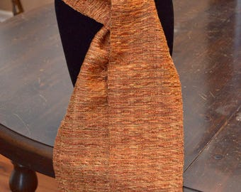 Handwoven rayon scarf - 60 in x 5.5 in