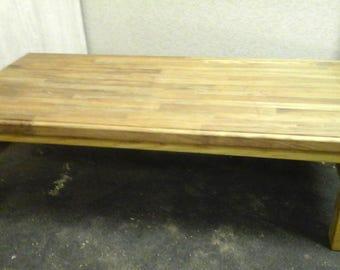 Handmade Reclaimed Oak Topped Coffee Table