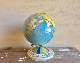 Vintage Globe Game 1952 Magnetic Global Air Race