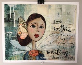 Look Within - Textured Fine Art Giclée