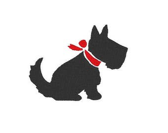 scotty dog Embroidery file Digital embroidery files Machine embroidery