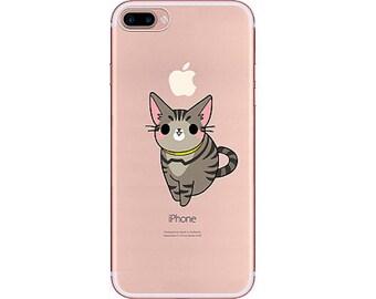 Cute Kitten iPhone 8 case, iPhone 8 plus case, iPhone case 7 plus, soft iPhone 7 case,Transparent Clear Phone Case iPhone,red iphone 7
