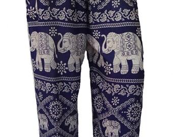 Harem pants; Jasmina, Elephant blue-dark
