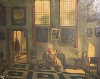 Johannes Vermeer antique canvas print portrait repro