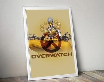 Overwatch ZENYATTA Poster, Game Poster, Flat Print Design, Digital Printable Poster, Blizzard wall art, Instant Download, game art
