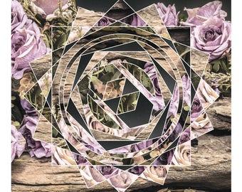 Modern Vintage Floral Style DIY Instant Digital Download Printable Wall Art