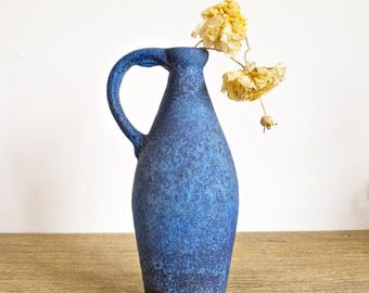Vintage 60-70s blue vase by Ruscha from West Germany