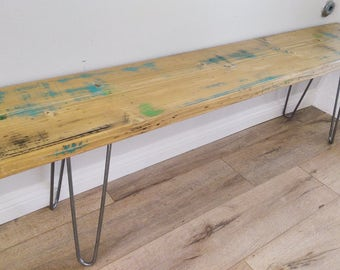Multi-colored Hairpin Bench