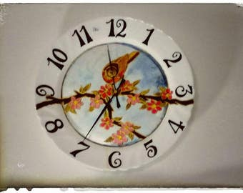 "Hand painted wall clock ""version"""