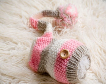 Newborn photography prop pixi hat