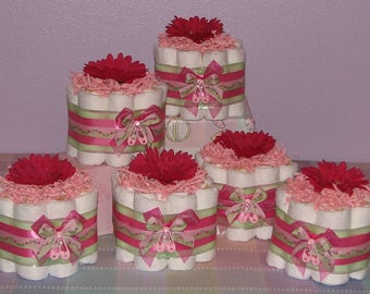 Diaper Cupcakes - Perfect Centerpieces for Baby Showers