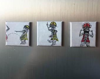 "3. set refrigerator magnet ""Wörker"""