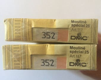2 Boxes DMC #352 Coral Embroidery Thread