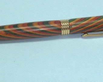 Turned wooden pen