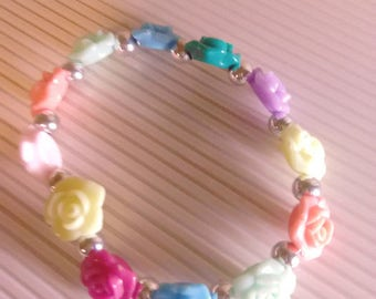 Girls Flower Bracelet