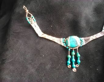 Tibetian Turquoise Necklace of Stunning Beauty