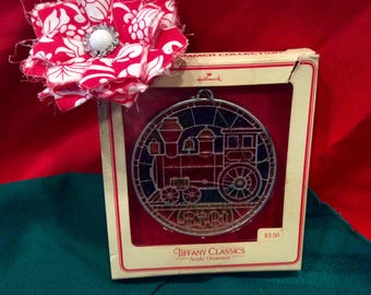 "1978 Hallmark ""stained glass"" train ornament"