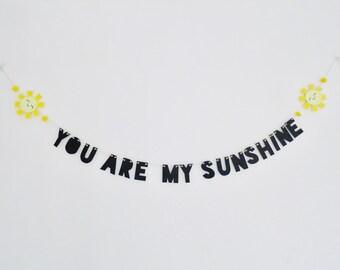 You Are My Sunshine Word Banner! Nursery, Playroom, Bedroom!