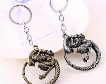 Xenomorph Figure Metal Keychain inspired Aliens series