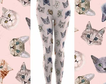 Cat leggings | Etsy