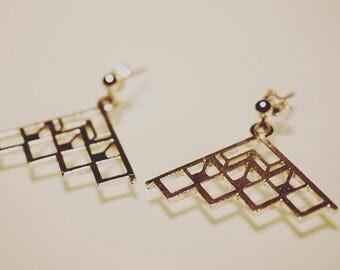 925 Silver Art Deco earrings