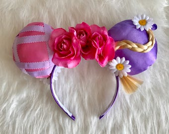 Rapunzel Let Down Your Hair Mickey Ears - Disney Princess Mickey Ears - Rapunzel Mickey Ears - Rapunzel Minnie Ears  Disney Ears