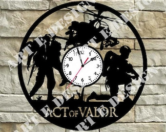 Vinyl disc clock Act of Valor