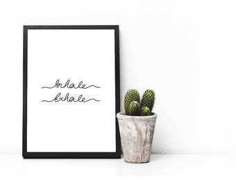 Relax Printable, Inhale Exhale Print, Zen Typography Poster, Instant Download, Quote Print, Quote Printable, Yoga Print, Gift, APIRO PRINTS,