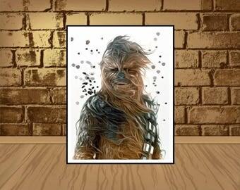Chewbacca poster,Star Wars Chewbacca Poster,Chewbacca print,Chewbacca art,Star Wars poster,Star Wars print,Star Wars art,birthday invitation