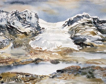 Athabasca Glacier, 1979, by Fritz Stehwien - Greeting Card (blank inside)