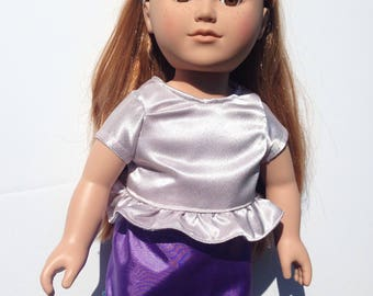 18 inch doll skirt and shirt
