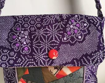 Vintage Kimono Fabric Shoulder Bag