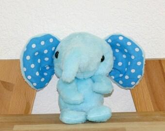 Doudou blue elephant - handmade