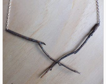 UnEarthed sterling silver twig necklace.