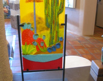 Southwestern Fused Glass Painting