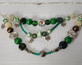 Beaded Necklace - Spring Is Green