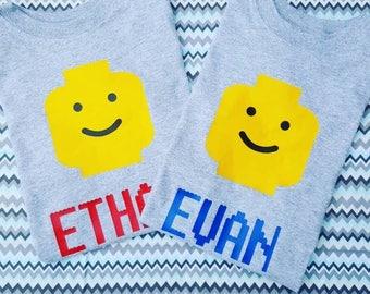 Lego shirt, kids Lego shirt, kids graphic shirt, Lego t-shirt, kids t-shirt, Lego birthday, Lego birthday shirt, kids graphic t-shirt