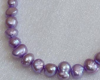 Lilac Fresh Water Pearls  4~ 5 mm Lilac Pearls Bead Supplies Jewlery & Beading Supplies Beads Craft Supplies and Tools Pearl on Strand