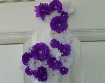 Tissue Flower Letter