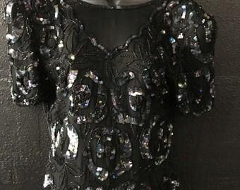 Vintage Black Glam Shirt