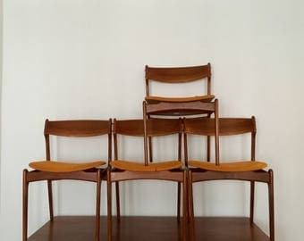 dining chair | set of 4 | Danish | Erik buck | Oddense Maskinsnedkeri | Denmark | teakwood.