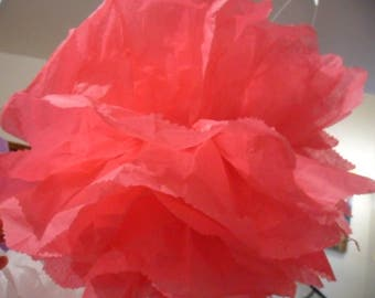 3 fuchsia 20/30 and 40 cm to 4.80 euros tissue paper PomPoms.