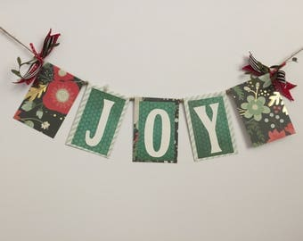 "Christmas Themed ""JOY"" Word Garland"