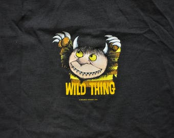 """Vintage 1990s Maurice Sendak """"Wild Thing"""" Tee // XL // Reading // Children's Books // Library // Where The Wild Things Are // Streetwear //"""