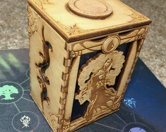 Blue Magic the Gathering Deck Box
