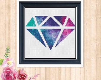 Galaxy Diamond Counted Cross Stitch Chart