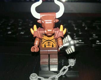 krampus custom lego mini figure