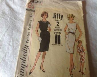 1960s sheaf dress pattern, simple