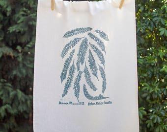 Rewarewa 75% Linen Handprinted Original Artwork Tea Towel